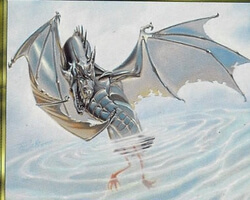 Magic the Gathering Planeshift Card: Silver Drake