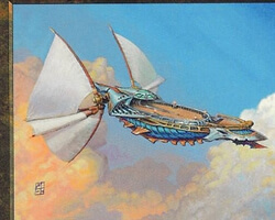 Magic the Gathering Planeshift Card: Skyship Weatherlight