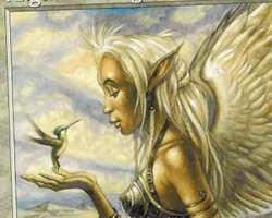Magic the Gathering Portal Card: Angelic Blessing