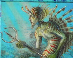 Magic the Gathering Portal Card: Merfolk of the Pearl Trident