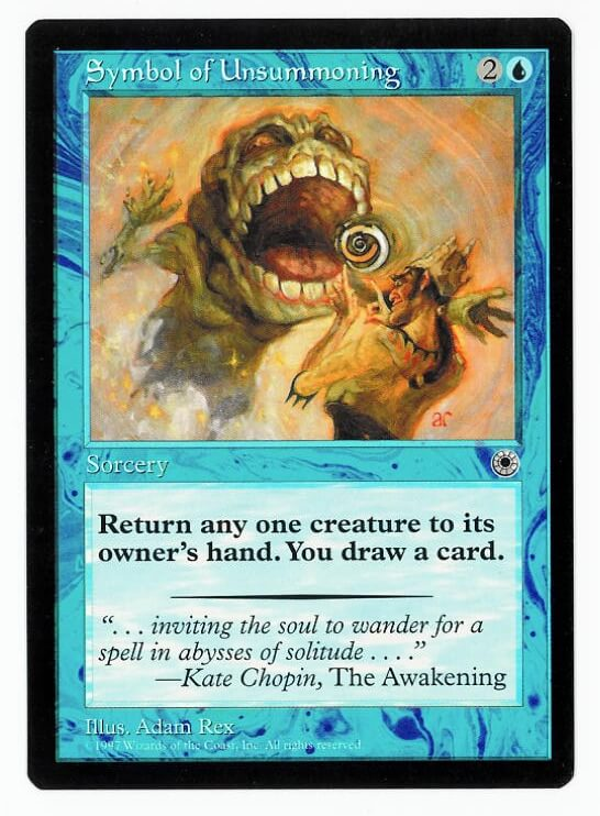 Chameleons Den Magic The Gathering Portal Card Symbol Of Unsummoning