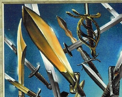 Magic the Gathering Portal Card: Wall of Swords (letter a on back)