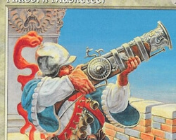 Magic the Gathering Portal Second Age Card: Alaborn Musketeer