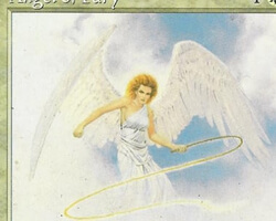 Magic the Gathering Portal Second Age Card: Angel of Fury