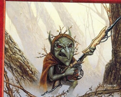 Magic the Gathering Portal Second Age Card: Goblin Raider