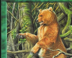 Magic the Gathering Portal Second Age Card: Golden Bear