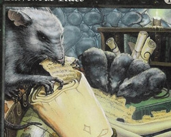 Magic the Gathering Portal Second Age Card: Ravenous Rats