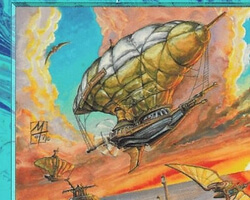 Magic the Gathering Portal Second Age Card: Talas Air Ship