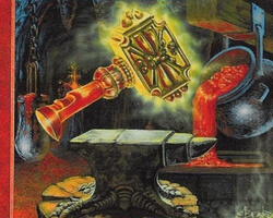 Magic the Gathering Portal Second Age Card: Volcanic Hammer