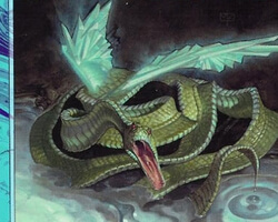 Magic the Gathering Prophecy Card: Ribbon Snake