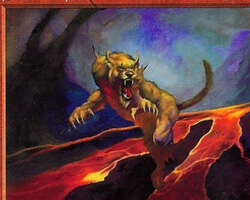 Magic the Gathering Prophecy Card: Scoria Cat