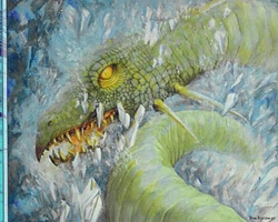 Magic the Gathering Prophecy Card: Shrouded Serpent
