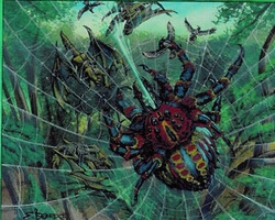Magic the Gathering Prophecy Card: Spitting Spider (Foil)