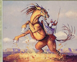 Magic the Gathering Prophecy Card: Trenching Steed