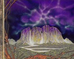 Magic the Gathering Prophecy Card: Wintermoon Mesa