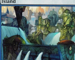 Magic the Gathering Ravnica: City of Guilds Card: Island (d)