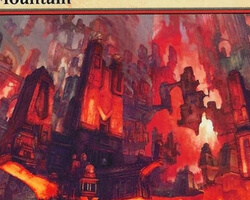 Magic the Gathering Ravnica: City of Guilds Card: Mountain (c)
