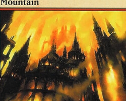 Magic the Gathering Ravnica: City of Guilds Card: Mountain (d)