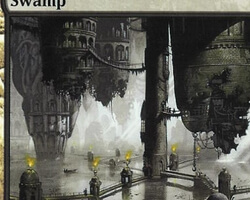 Magic the Gathering Ravnica: City of Guilds Card: Swamp (b)