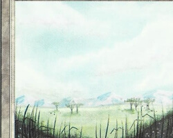 Magic the Gathering Revised Card: Plains (a)