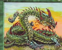 Magic the Gathering Starter 1999 Card: Sylvan Basilisk