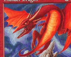 Magic the Gathering Starter 1999 Card: Thunder Dragon
