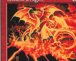 Magic the Gathering Starter 1999 Card: Volcanic Dragon