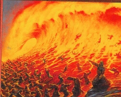 Magic the Gathering Stronghold Card: Flame Wave