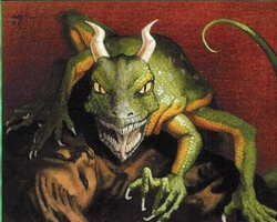 Magic the Gathering Stronghold Card: Lowland Basilisk