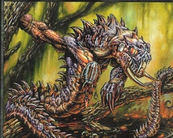 Magic the Gathering Stronghold Card: Serpent Warrior