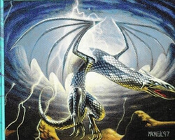 Magic the Gathering Stronghold Card: Silver Wyvern