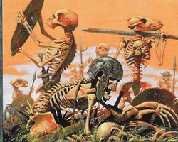 Magic the Gathering Stronghold Card: Skeleton Scavengers