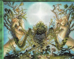Magic the Gathering Stronghold Card: Verdant Touch