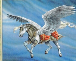 Magic the Gathering Tempest Card: Armored Pegasus