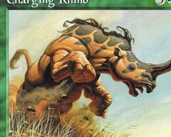 Magic the Gathering Tempest Card: Charging Rhino