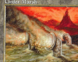 Magic the Gathering Tempest Card: Cinder Marsh