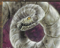 Magic the Gathering Tempest Card: Coiled Tinviper