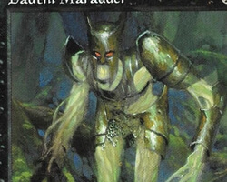 Magic the Gathering Tempest Card: Dauthi Marauder