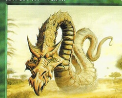 Magic the Gathering Tempest Card: Dirtcowl Wurm
