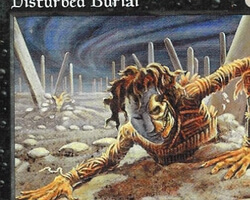 Magic the Gathering Tempest Card: Disturbed Burial