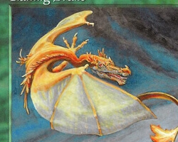Magic the Gathering Tempest Card: Flailing Drake