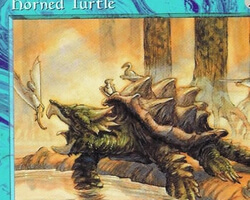 Magic the Gathering Tempest Card: Horned Turtle