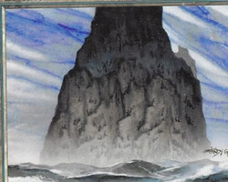 Magic the Gathering Tempest Card: Island (d)