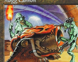 Magic the Gathering Tempest Card: Mogg Cannon