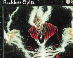 Magic the Gathering Tempest Card: Reckless Spite