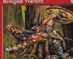 Magic the Gathering Tempest Card: Renegade Warlord