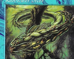 Magic the Gathering Tempest Card: Rootwater Diver