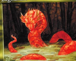 Magic the Gathering Tempest Card: Segmented Wurm