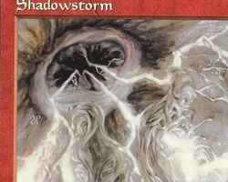 Magic the Gathering Tempest Card: Shadowstorm