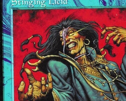 Magic the Gathering Tempest Card: Stinging Licid
